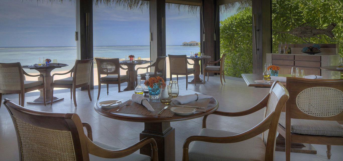 beach bistro maldives the dining room the residence maldives